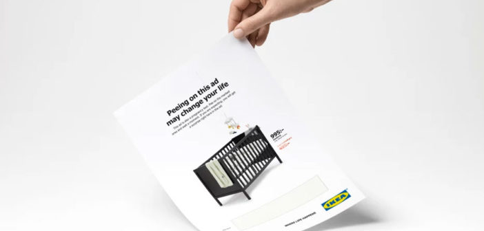 Ikea's New Ad Is A Pregnancy Test You Pee On. Really.