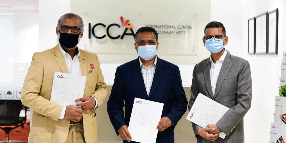 Seen in the picture below from L to R: Suresh Dinakaran, Chief Storyteller, ISD Global, Santosh Varghese, Vice President, Toshiba Gulf FZE, Sunjeh Raja, Founder & CEO, ICCA