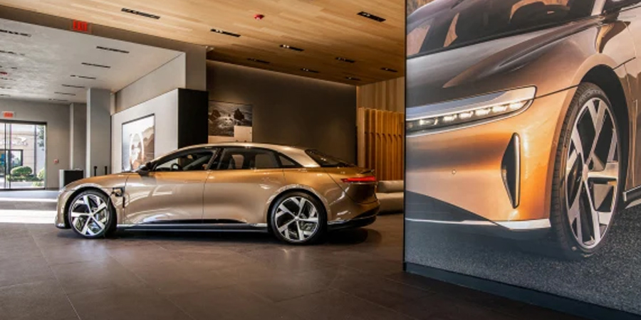 Why the car dealership of the future looks like a midcentury modern living room
